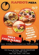 "Menu Rapido""s Pizza - Carte et menu Rapido""s Pizza Mulhouse"