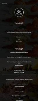 Menu Aux Deux Clefs - menus