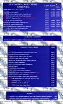 Menu Azzurra Express - Les tartes et pates