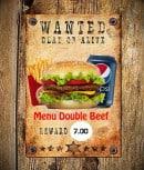 Menu Le 153 - Le menu double beef à 7€