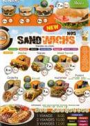 Menu Le 153 - Les burgers, sandwiches et assiettes