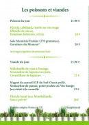 Menu Le Jardin Gourmand - Poissons et viandes