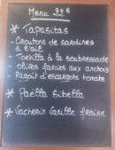 Menu La Bascule - Le menu à 22€