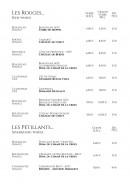 Menu La Nouvelle Orléans - Les vins suite