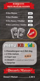 Menu k&b house - menu enfant