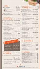 Menu Brasserie des Européens - Les boissons