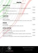 Menu La Dolce vita Annecy - pasta
