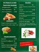 Menu C'era Una Volta - Pizzas à la part, lasagnes, salades,...