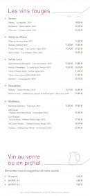 Menu La Taverne de Maitre Kanter - Vins suite