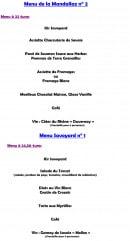Menu Chalet du tornet - Les menus groupes