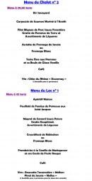 Menu Chalet du tornet - Les menus groupes page 3