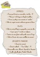 Menu Le Cabanon - entrées, plats, desserts