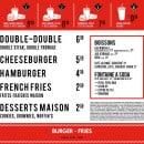 Menu Burger and Fries - Les formules