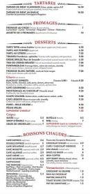 Menu Le gramont - Les desserts, tartares,...