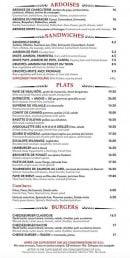 Menu Le gramont - Les plats, burgers,...