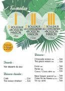 Menu Monsieur Printemps - Les formules et desserts, boissons