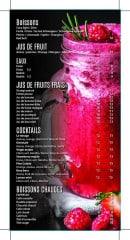Menu Le Mirage - les boissons et jus de fruits, eaux,...