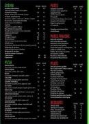 Menu Le Mirage - les entrées et pizzas,...