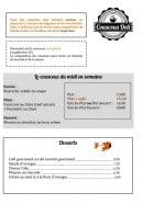Menu Couscous Deli - le couscous du mide en semaine et desserts