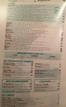 Menu Falstaff - Les pizzas, menu enfant, fromages...