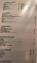 Menu Falstaff - Les boissons chaudes, apéritifs, champagnes...
