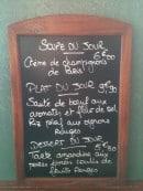 Menu La Fée Verte - Exemple de soupe du jour