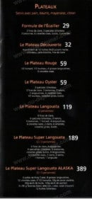 Menu Langousta - Les plateaux