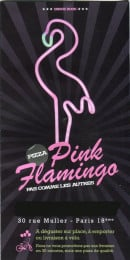 Menu Pink Flamingo - carte et menus p