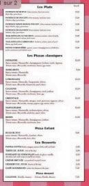 Menu Chez Arnaud - Les plats, pizzas classiques...