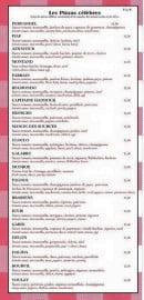 Menu Chez Arnaud - Les pizzas célèbres