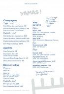 Menu Yaya - Les champagnes, les bieres ...