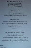 Menu Au Puits d'Antan - Menu traditionnel suite