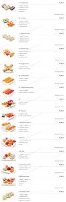 Menu Miyaki - Les Menus Sushis
