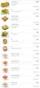 Menu Miyaki - Les Plats Chauds et salades