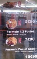 Menu Zine - Les formules poulet