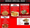Menu Pizza Pronto - Menus special midi