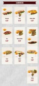 Menu Royal Pizza - SANDWICHS