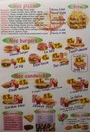 Menu Le delice - Les pizzas, burgers, sandwiches...