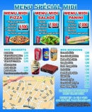Menu Funky Pizza - Les menus, desserts et boissons