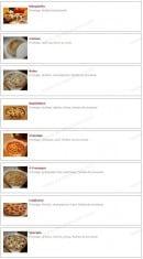 Menu Pizza Luigi - Les pizzas: marguerita, calzone, reine,...