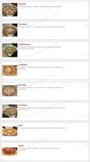 Menu Pizza Luigi - Les pizzas: spéciale, paysanne végétarienne,...