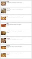 Menu Pizza Luigi - Les pizzas: raclette, 4 saisons, chef,...
