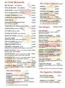 Menu Le Grill d'Oncle Sam - Le coin brasserie, les crêpes, les burgers...