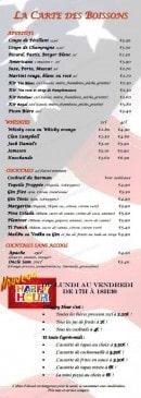 Menu Le Grill d'Oncle Sam - Les apéritifs, les whiskies..