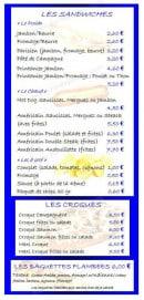 Menu Le Grill d'Oncle Sam - Les sandwiches, les croques et baguettes flambées