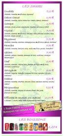 Menu Le Grill d'Oncle Sam - Les salades