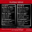 Menu Panda's Kitchen - Plateaux repas