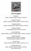 Menu Le Chien Rouge - les burgers