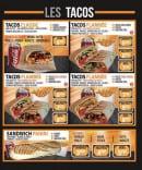 Menu La Flambée - Les tacos