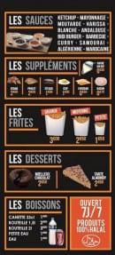 Menu La Flambée - Les sauces, suppléments, frites...
